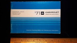 1971-CHEV-10-30-Truck-Original-Owners-Manual-Good-Condition-CDN
