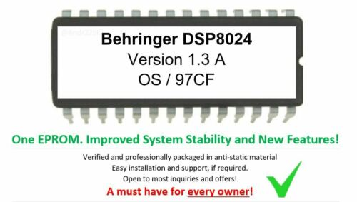 Behringer DSP8024 Version 1.3A Update Firmware Upgrade Eprom or convert DSP9024