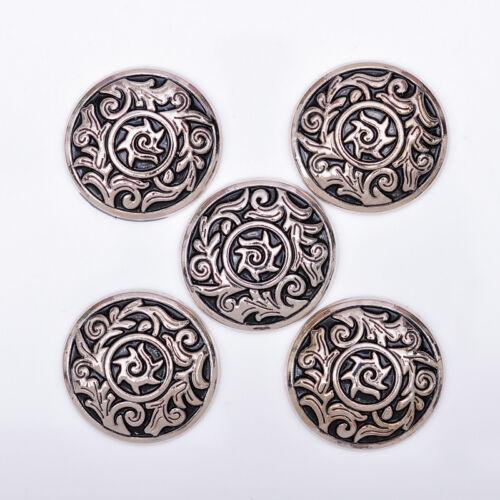 10PC Antique Silver Tribal Sun Flower Navajo Celtic Leathercraft Saddles Conchos