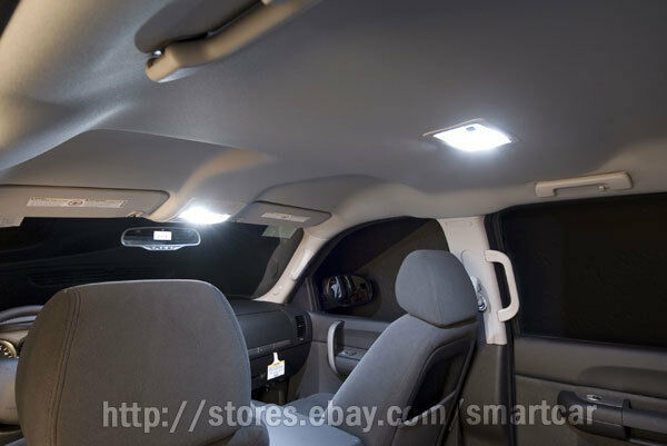 LED Interior front Map center Room sunvisor Vanity Mirror light package 5 bulbs