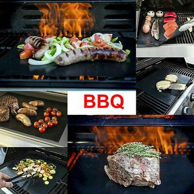 Non Stick BBQ Grill Mat Bake Grilling Mats Barbecue Pad  Fiber Reusable Cooking