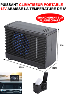 PUISSANT-CLIMATISEUR-12V-MONTAGE-1MN-REFROIDIT-8-GENIAL-VOITURE-CAMPING-CAR
