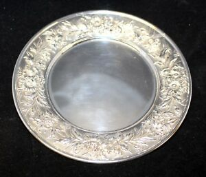 S-Kirk-amp-Son-Sterling-Silver-Bread-Plate-Repousse-Partial-Chased