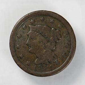 1851 BRAIDED HAIR 1C LARGE CENT ** NICE DETAIL Lot#J057