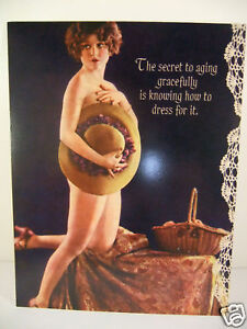 Victorian Retro Happy Birthday Greeting Card The Secret Of Aging Gracefully New
