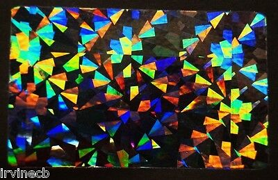 Hologram Overlays Cracked Ice Overlay Inkjet Teslin ID Cards - Lot of 5