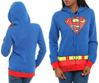 Dc Comics Superman Supergirl Hoodie Hoody Hooded Sweatshirt Logo Adult M