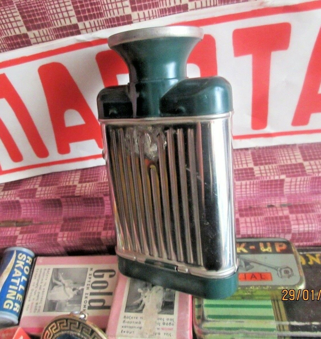 AMAZING VINTAGE FLASHLIGHT - MY DAY - MADE IN CZECHOSLOVAKIA FROM 60s NEW