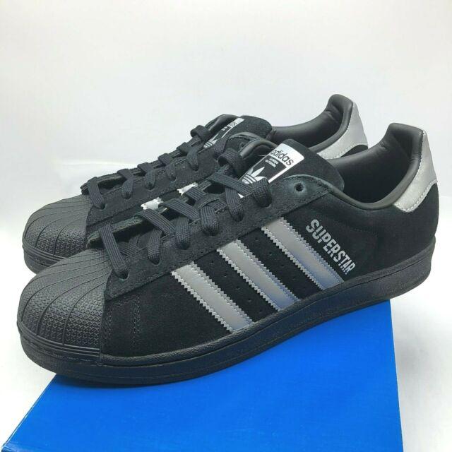 adidas superstar black on black