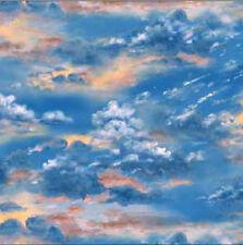 Blue, Sunset Colorful Sky, Landscape Medley, Elizabeth's 296-Multi (By 1/2 yard)