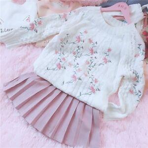 Lolita-Sweet-Mori-Girl-Pullover-Sweater-Embroidery-Winter-Japanese-Women-039-s-Slim