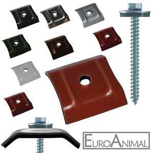 100 kalotten 26 50 farbig f r trapezblech 20 1100 20 137 schrauben v2a 6 5x64 ebay. Black Bedroom Furniture Sets. Home Design Ideas