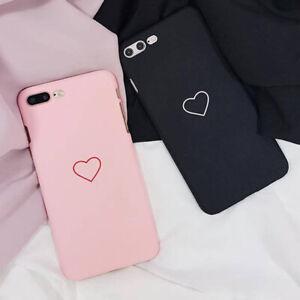 Mignon-Amour-Coeur-Imprimer-Dur-PC-Mince-Coque-Housse-Pour-iPhone-6S-7-8-Plus-Xs