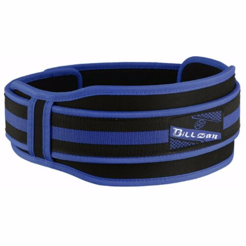 """Weight Lifting Belts Gym Fitness Back Support 5/"""" Wide Training Double Belt BLUE"""