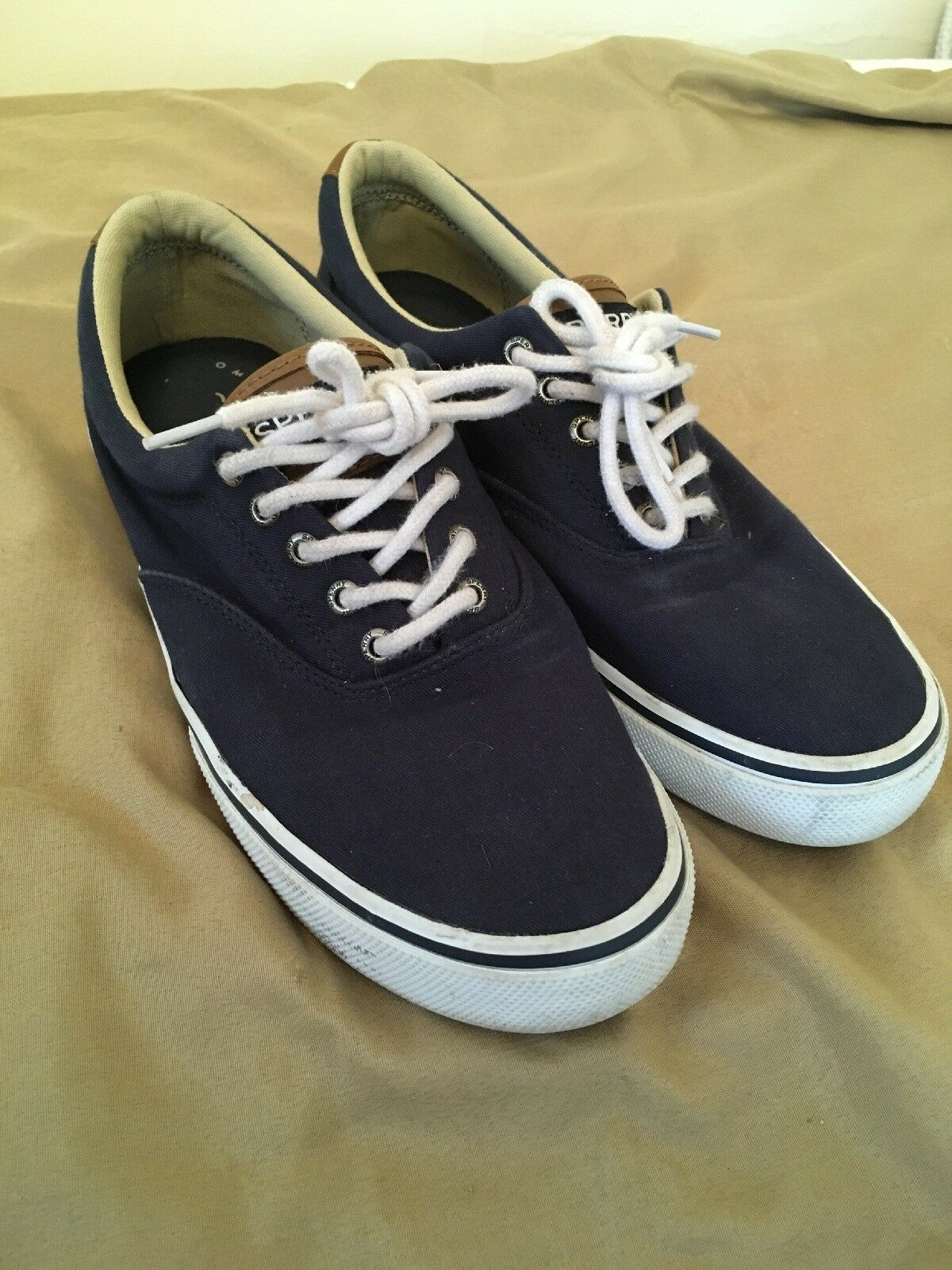 Sperry Nautical Canvas Boat shoes - Men's Size 8.5, Navy