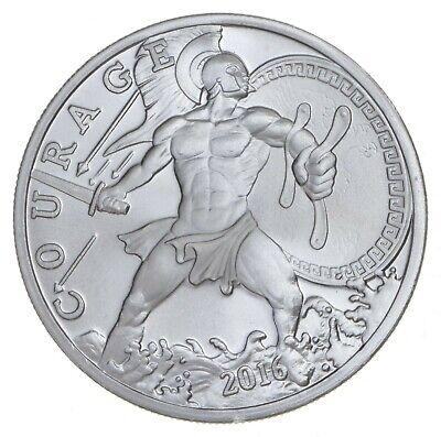 2016 Modern Ancients Courage Ajax Greek Hero 1 oz Fine Silver Round