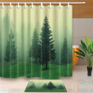 Image Is Loading Pine Trees In Woodland With Foggy Air Bathroom