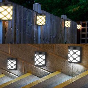 10LED Solar Power Wall Mount Light Outdoor Garden Path Way Fence Yard Patio Lamp