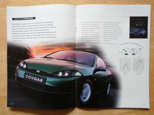 FORD COUGAR orig 2000 UK Mkt Sales Brochure 2.0i 16v /& 2.5i 24v V6