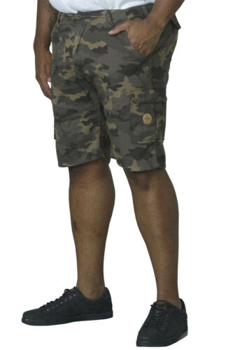 "Mens Big//Tall Superior Quality Cotton Camo Cargo Shorts 42/""-56/"" Waist"
