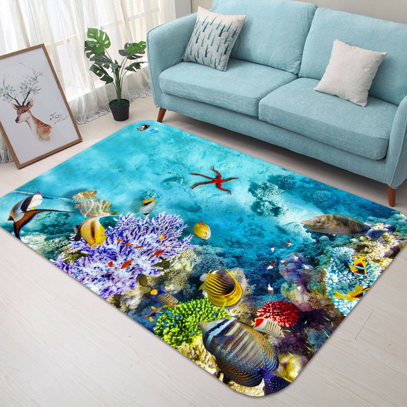 3D Coral Sea Sea Sea 50 Non Slip Rug Mat Room Mat Quality Elegant Photo Carpet US 183f62