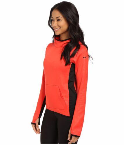 NWT Women Nike  All Time Tech Embossed Hyperwarm Vixen Hoodie 685488 696 Crimson