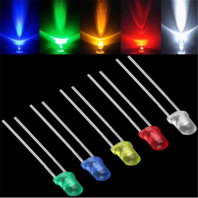 100  pcs  3mm white LED light  Light Emitting Diode