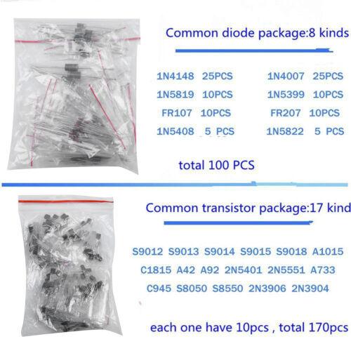 1390Pcs//set Electronic Component LED Diode Transistor Capacitor Resistance Kit