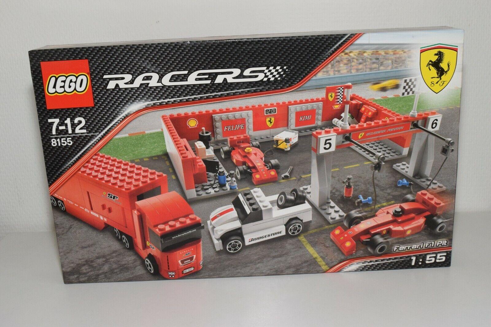 V LEGO 8155 FERRARI RACERS F1 FORMULA 1 PIT PITLANE PIT STOP SET MIB SEALED