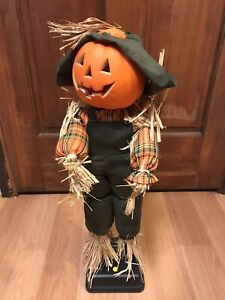 Vintage-Gemmy-Halloween-Factory-1995-Animated-Scarecrow-Sound-amp-Motion-w-Box