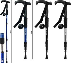 NEW-3-JOINT-FLARED-HANDLE-HIKING-CAMPING-TREKKING-WALKING-STICK-TELESCOPIC-POLE