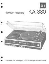 Dual Original Service Manual für KA 380
