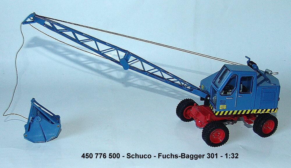 450776500 schuco - fox bagger 301, 1  2 blau...
