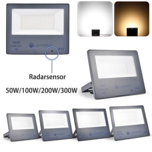 50W 100W 200W 300W LED Fluter Mit Bewegungsmelder Radarsensor Flutlicht IP67