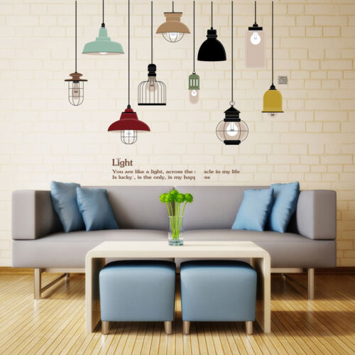 DIY Pendant Lamp Wall Sticker Vinyl Love Wall Home Living Room Decal Sofa Decor