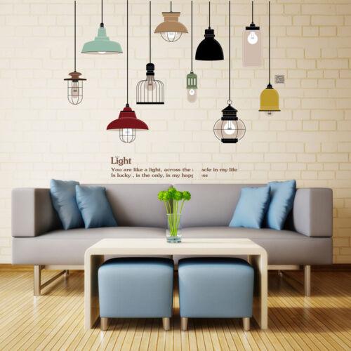 DIY Pendant Lamp Wall Sticker Vinyl Love Wall Home Living Room Decal Sofa Decor