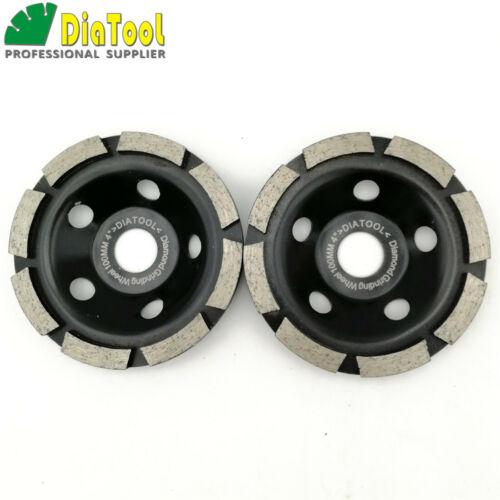 "2pcs Dia 100MM//4/"" Diamond Single Row Concrete Grinding Cup Wheel Sanding Wheel"
