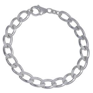 Damen-Panzerarmband-echt-Silber-925-Sterlingsilber-20cm-Herren-Armband-massiv