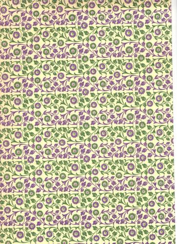 Italienisches Buntpapier 50 x 70 cm grün//lila Carta Varese Überzugspapier