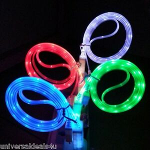 Colorful Usb Data Sync Led Light Charger Cable For Apple
