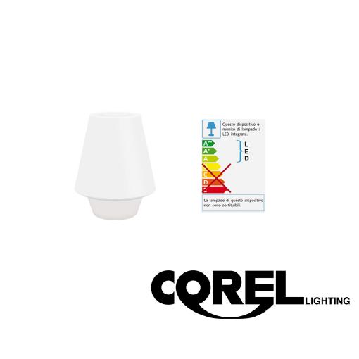 corel lighting 65002611007 lampada da tavolo al led - base bianca | ebay