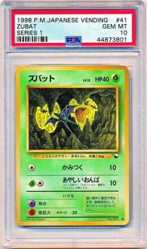 POP 29 1998 Pokemon Japanese Vending Series 1 Zubat #41 PSA 10 QTY AVAIL