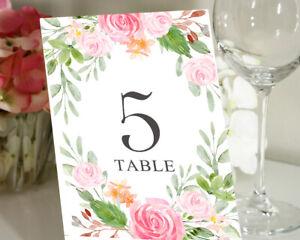Darling Souvenir Numbers Floral /& Leaf Reception Table Place Cards-DS-JSTN15