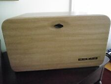 Vintage Beauty Box Bread Box by Lincoln Chrome Woodgrain 50's