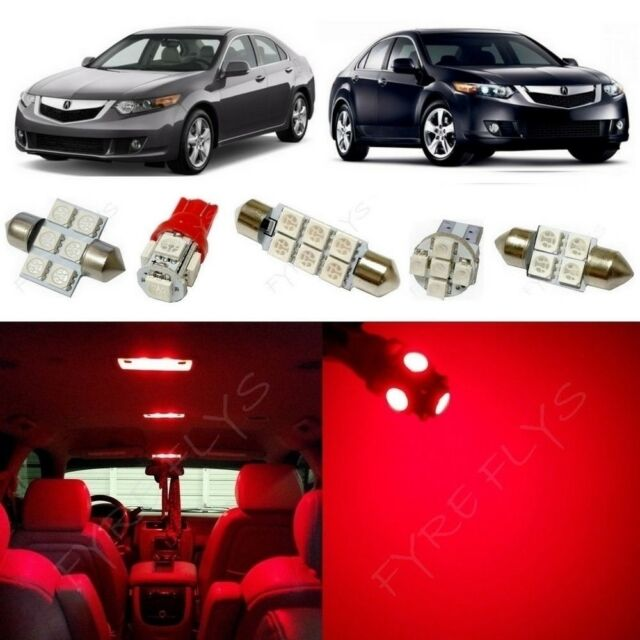 14x Red LED Lights Interior Package Kit For 2009-2014