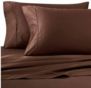 Wamsutta-400-Thread-Count-100-Cotton-King-Pillowcases-in-Chocolate-Set-of-2