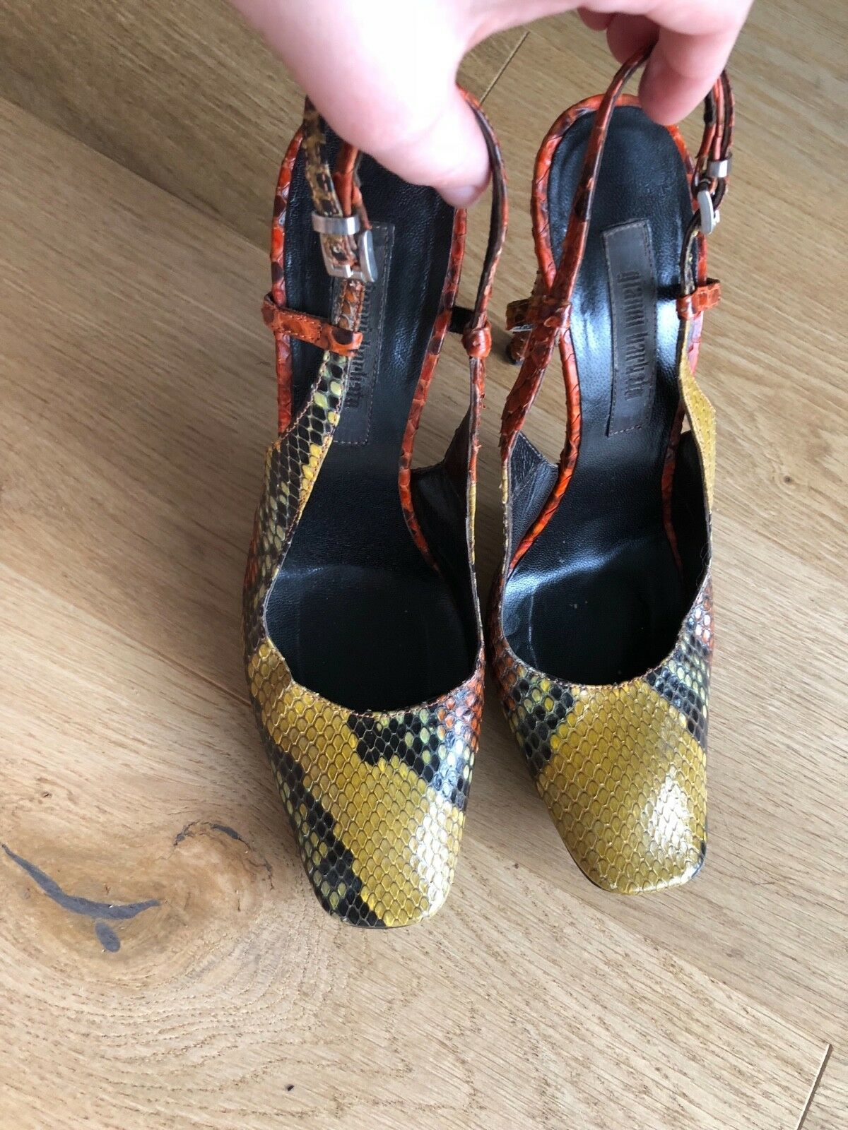 Gianni Barbato, Gr.38 Echtes Leder( reptil) Pumps High heels Damen Schuhe