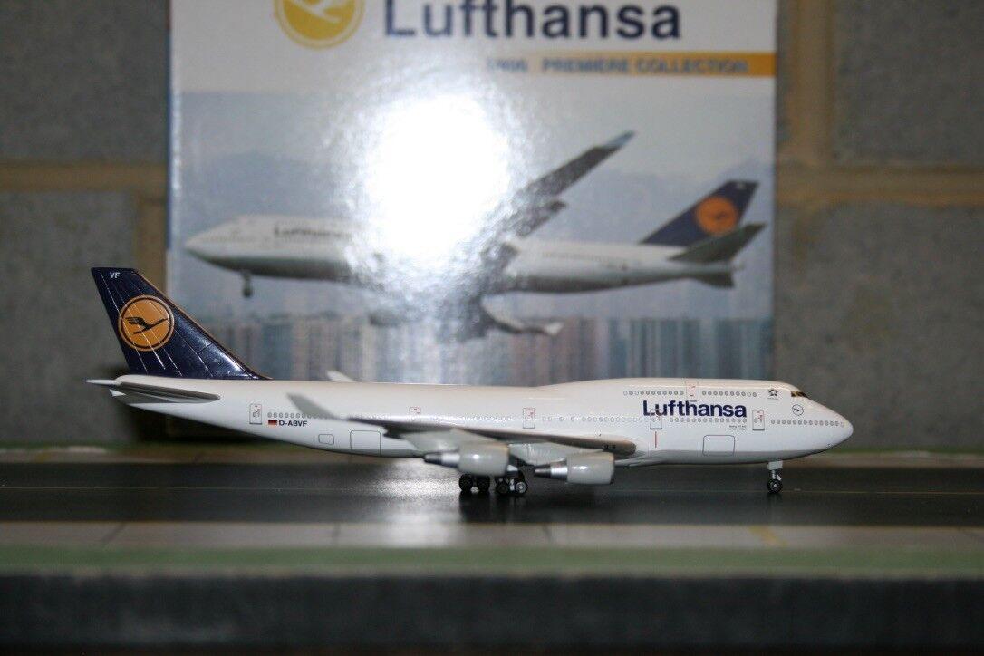 para barato Alas de dragón 1 400 Lufthansa Boeing 747-400 D-abvf (55156) (55156) (55156) Fundición Modelo de Avión  orden en línea