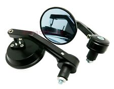 "Motorcycle Round 7/8"" Handle Bar End Rear View Side Mirror For All bikes."