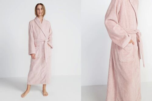 Sheridan Elissa Luxury Egyptian Cotton Womens Robe Tea Rose